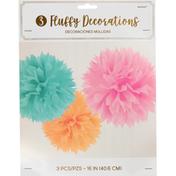 Amscan Fluffy Decorations, 16 Inch