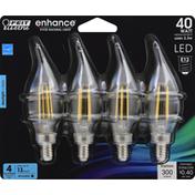 Feit Electric Light Bulb, LED, Daylight, 3.3 Watts