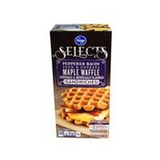 Kroger Selects Peppered Bacon + Egg & Cheeses Maple Waffle Sandwiches