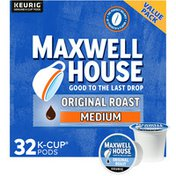 Maxwell House The Original Roast Ground Coffee K Cup Pods