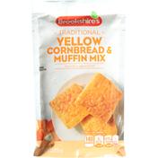 Brookshire's Cornbread & Muffin Mix, Yellow, Traditional