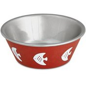 Harmony Red Fish Stainless Steel Cat Bowl 1 Cup