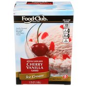 Food Club Cherry Vanilla Flavored Ice Cream Blended With Cherry Pieces