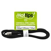 Hottips Cable, Charge & Sync, 3 Feet Long