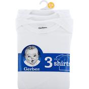 Gerber Shirts, Slip On, 3-6 Months