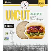 UNCUT Patties, Chicken Burger, Savory, Plant-Based