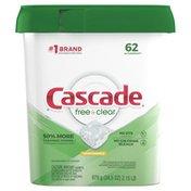 Cascade Free & Clear Actionpacs Dishwasher Detergent Pods, Lemon Essence