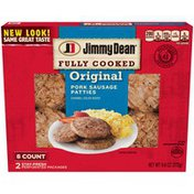 Jimmy Dean Fully Cooked Original Pork Sausage Patties, 8 Count