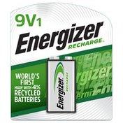 Energizer Recharge 9 Volt Battery, Rechargeable 9V Battery