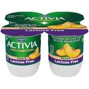 Activia Lactose-Free Probiotic Peach Yogurt