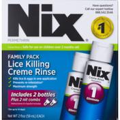 Nix Family Pack Lice Killing Creme Rinse