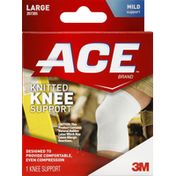 Ace Knee Support, Knitted, Large, Mild Support