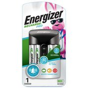 Energizer able AA and AAA Battery Charger ( Pro) with 4 AA NiMH able Batteries