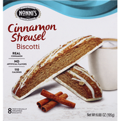 Nonni's Biscotti, Cinnamon Streusel, 8 Pack