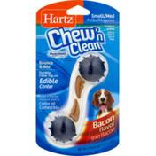 Hartz Chew'n Clean Small/Medium Chew Toy Bacon