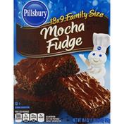Pillsbury Brownie Mix, Mocha Fudge, 13x9 Family Size