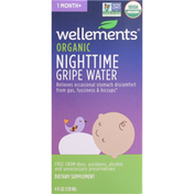 Wellements Gripe Water, Organic, Nighttime, 1 Month+