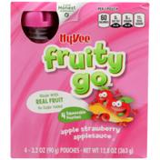 Hy-Vee Fruity Go, Apple Strawberry Applesauce