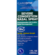 CareOne Severe Congestion Nasal Spray 30ml 12 Hour