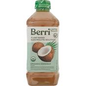 Berri Lyte Electrolyte Solution, Organic, Coconut Flavor, Plant-Based