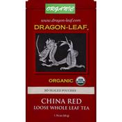 Dragon-Leaf Tea, Loose Whole Leaf, China Red, Sealed Pouches