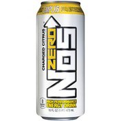 Nos Zero Charged Citrus High Performance Energy Drink