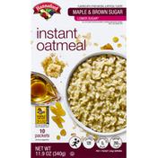 Hannaford Low Sugar Maple Brown Sugar Instant Oatmeal