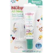 Nûby Baby Tooth & Gum Cleaner Gel, Vanilla Milk Flavored
