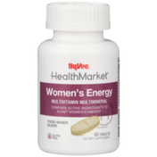 Hy-Vee Healthmarket, Women'S Energy Multivitamin Multimineral Food-Based Blend Dietary Supplement Tablets