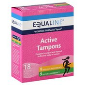 Equaline Tampons, Active, Multi-Pack, Unscented