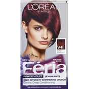 Feria Permanent Haircolour, Gel, Intense Medium Violet V48