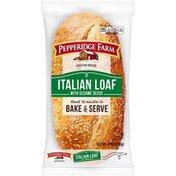 Pepperidge Farm Frozen Bakery Italian Loaf with sesame Seeds Artisan Bread