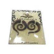 Coco Loco Jewelry Brown Wood Medium Luna Spiral Earrings