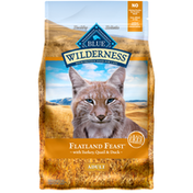 Blue Buffalo Wilderness High Protein, Natural Adult Dry Cat Food, Flatland Feast with Turkey, Quail & Duck