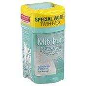 Mitchum Power Gel, Anti-Perspirant & Deodorant, Shower Fresh, 2 Pack, Tube