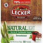 Lecker Sweetener, Stevia & Turbinado Sugar, Natural, Light, Packets