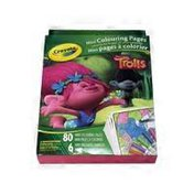Crayola Dreamworks Trolls Mini Colouring Pages