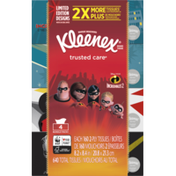 Kleenex Trusted Care Everyday Facial Tissues, Flat Box