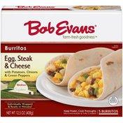 Bob Evans Egg Steak & Cheese Burritos