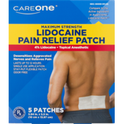 CareOne Lidocaine Pain Relief Patch