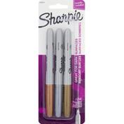 Sharpie Permanent Marker, Fine Point, Assorted Metallic