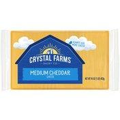 Crystal Farms Medium Cheddar Cheese