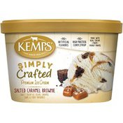 Kemps Simply Crafted Salted Caramel Brownie Premium Ice Cream