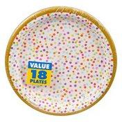 Amscan Plates, Rainbow Confetti, 7 Inch