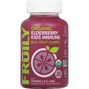 Fruily Kids Immune, Organic, Elderberry, Mixed Fruit Flavor, Gummies