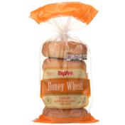 Hy-Vee Honey Wheat Larger Bakery Style Bagels