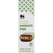 Food Lion Sandwich Bags, Reclosable, Extra-Large, Box