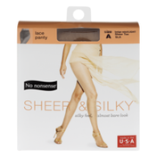 No nonsense Lace Panty Sheer & Silky Sheer Toe Size A Beige Mist/Light