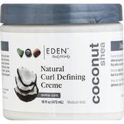 Eden Foods Curl Defining Creme, Natural, Coconut Shea, Medium Hold