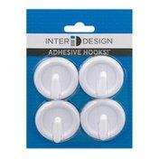 iDesign Adhesive Hooks - 4 CT